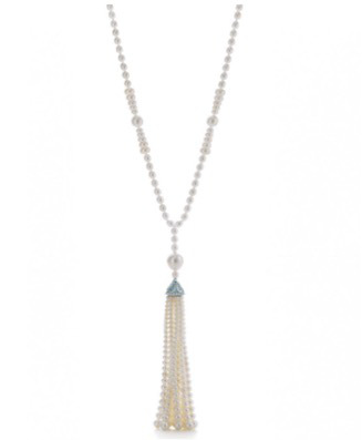 Drawn necklace black and red See Age: Tassel Online could