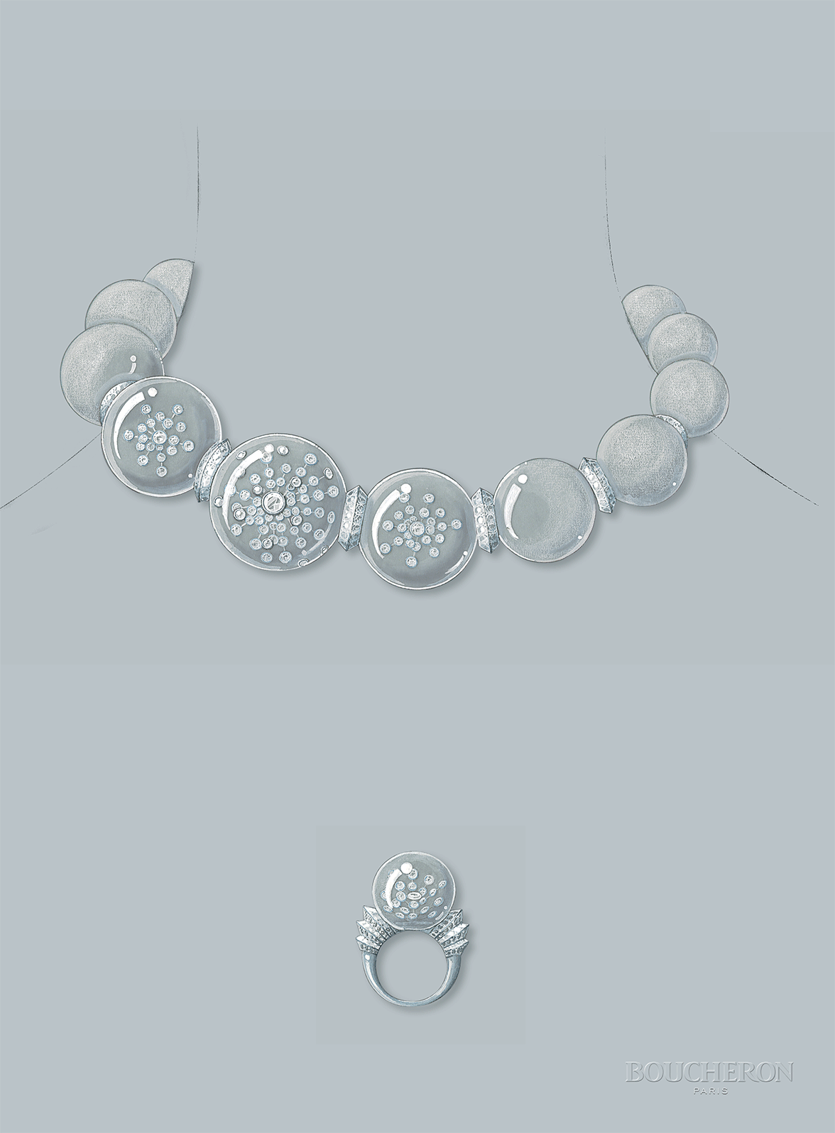 Drawn necklace boucheron  d'éclat Drawing necklace necklace