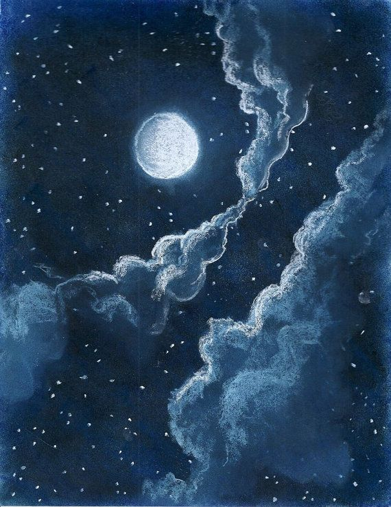 Drawn night sky Illustration DrawingDrawing Sky Best Vintage