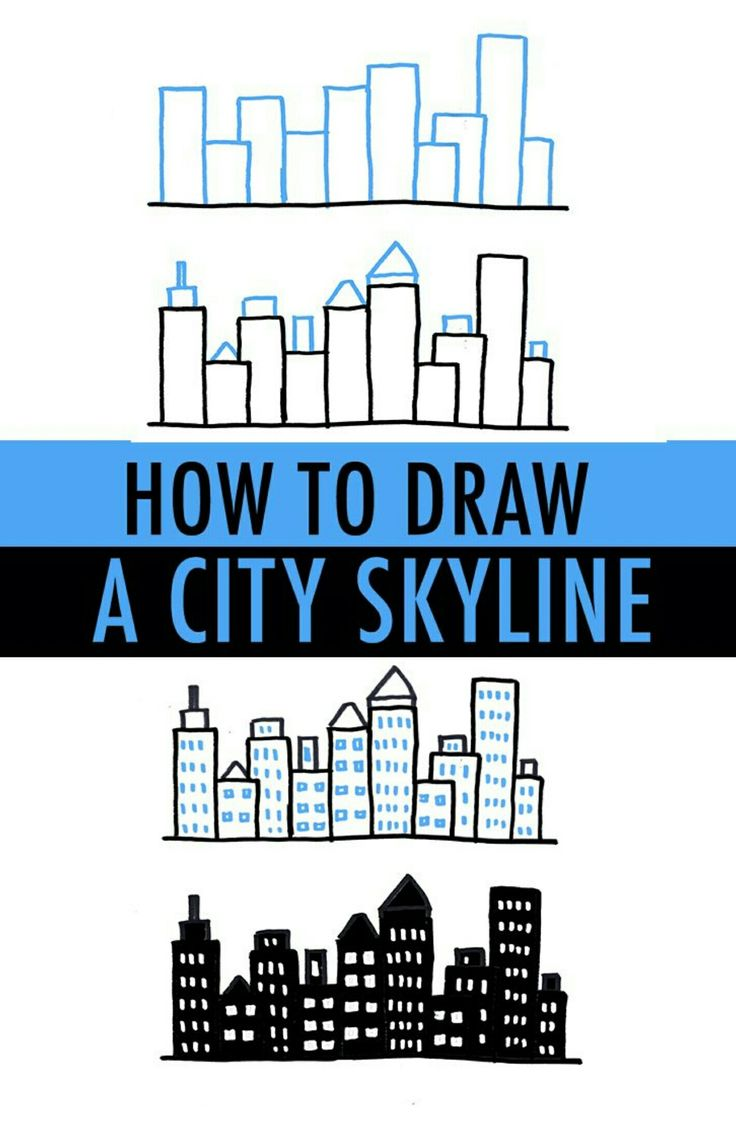Drawn night basic Skyline a Draw Pinterest 25+