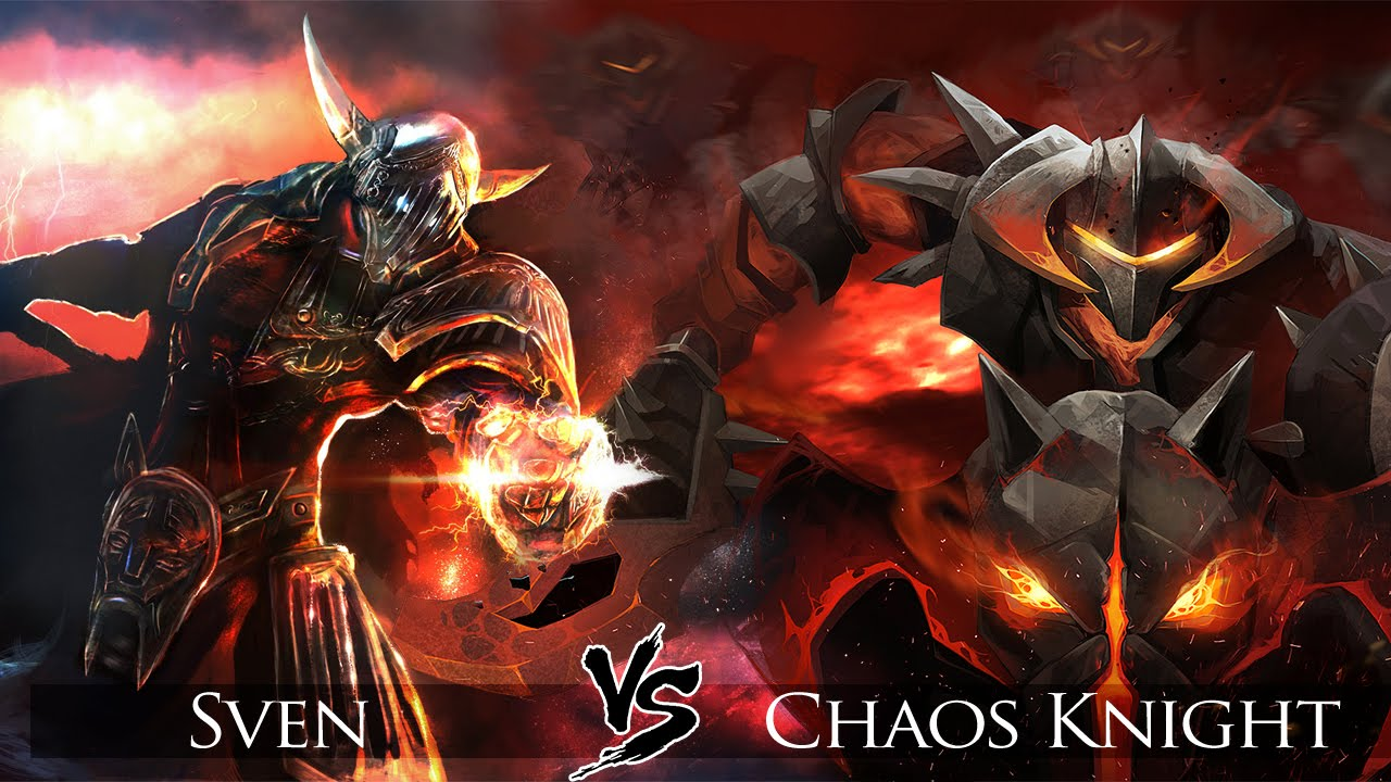 Drawn night chaos knight Dota 2: Click vs Sven