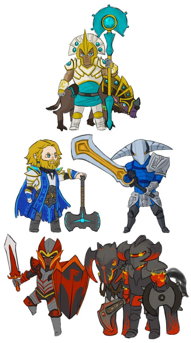 Drawn night chaos knight Sandking Tidehunter Ideen stalker stealer