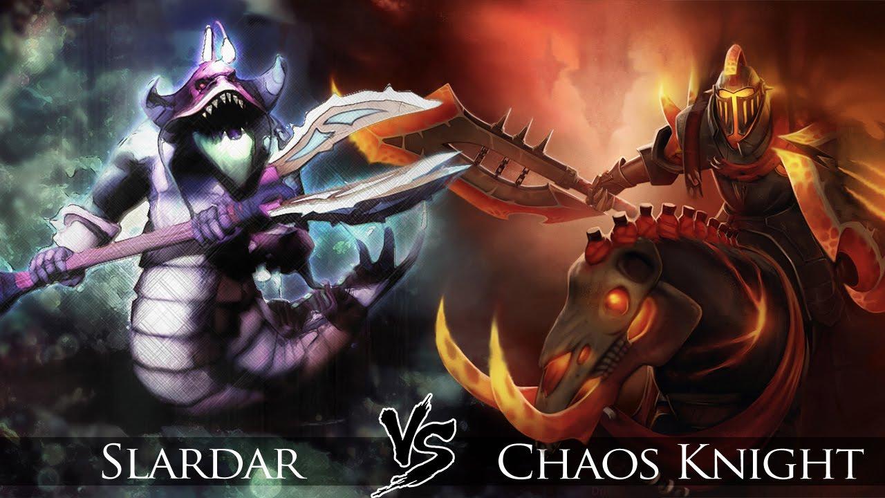 Drawn night chaos knight Dota 2: Click vs Slardar