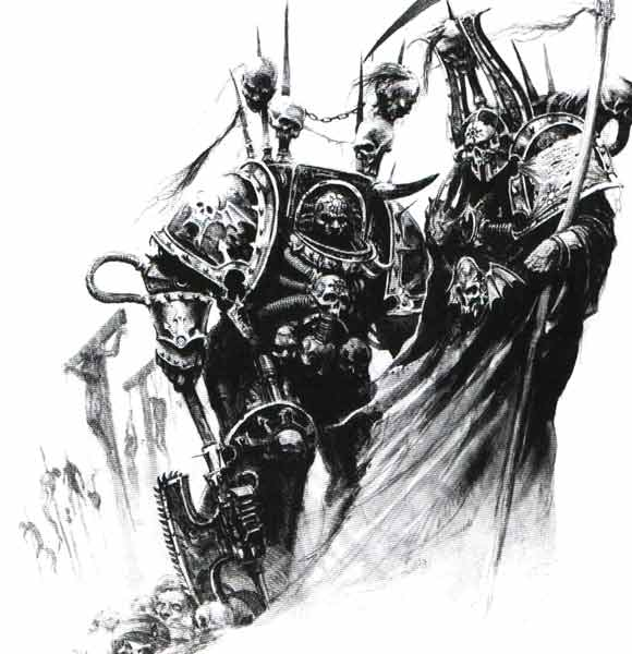 Drawn night chaos knight And Chaos Terminator of