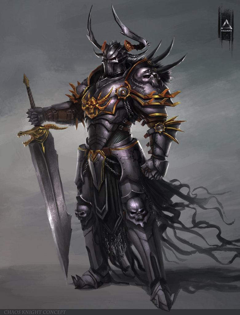 Drawn night chaos knight Knight by Anime~Gaming~SciFi Chaos YENIN
