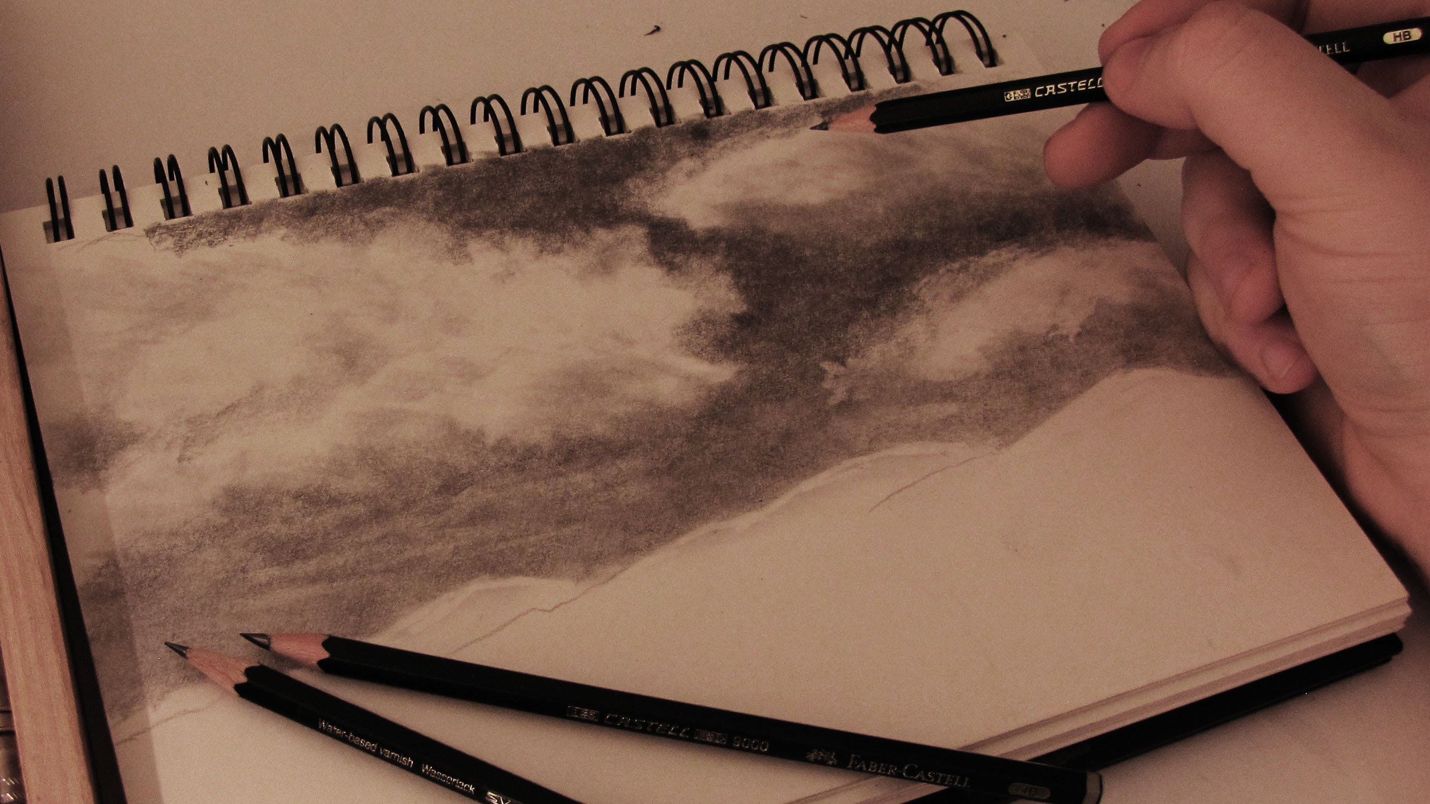 Drawn sky pencil drawing Tutorial YouTube w/ to commentary