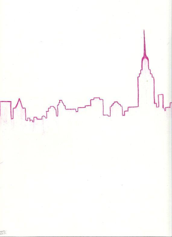 Drawn skyline easy Pinterest ideas Best on 25+