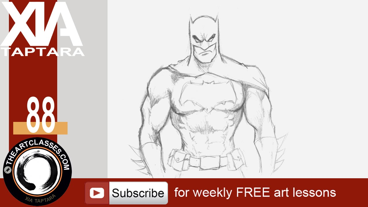 Drawn batman beginner To Dark draw Batman YouTube