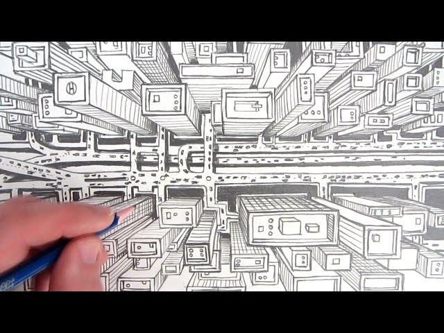 Drawn city 3d view 3d Search Google