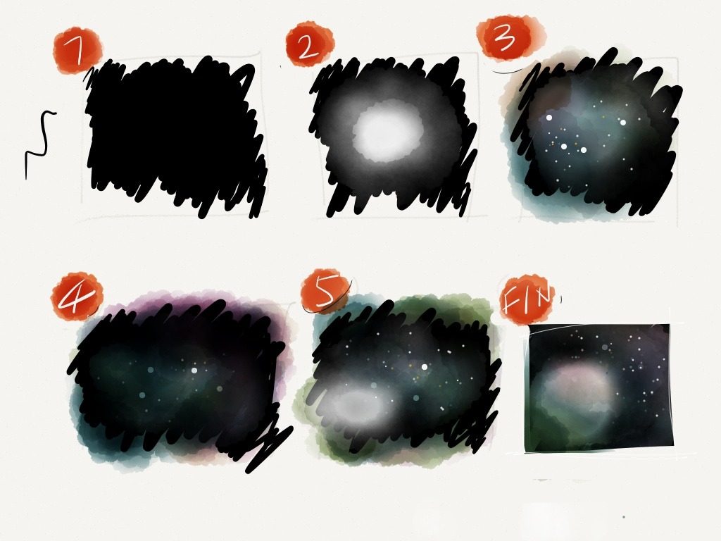Drawn night sky pencil drawing Paper Draw can can with