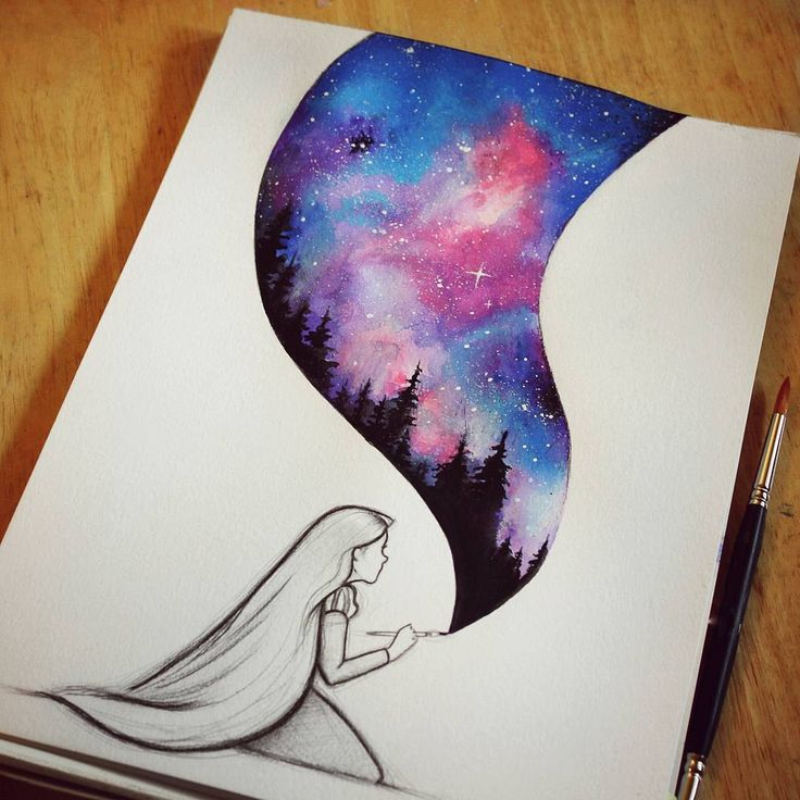 Drawn stars black sky Best Instagram drawing Awesome 25+
