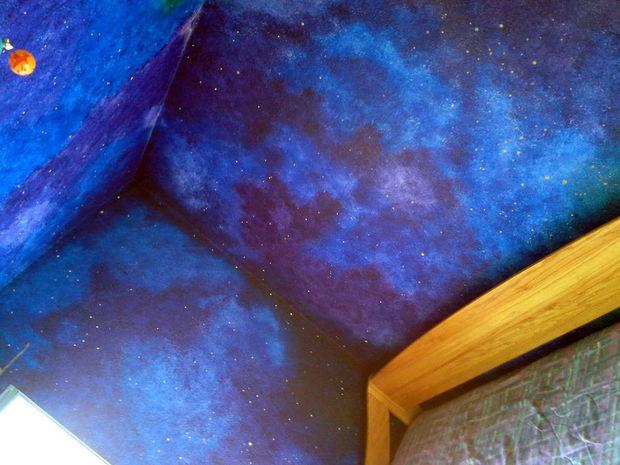 Drawn night sky ceiling Themed Paint High sky Themed