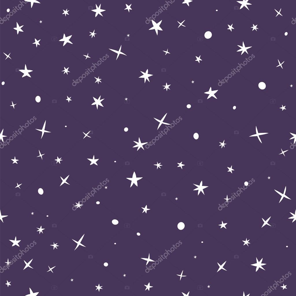 Drawn night sky cute And — seamless night Illustration