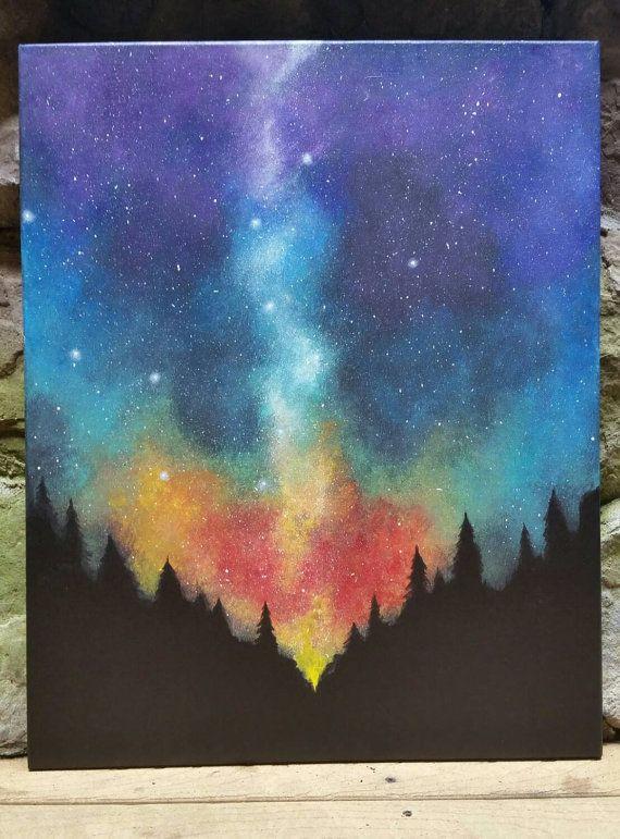 Drawn night sky cute Https://www Pinterest Etsy Acrylic out