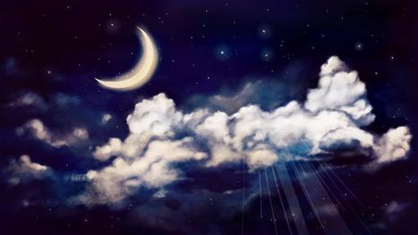 Drawn night sky moon painting Drawing Painting a Scoop Night