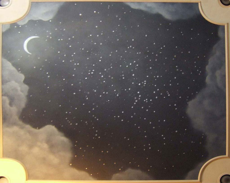 Drawn night sky painted ceiling And : for Murals