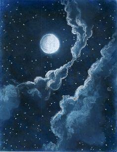 Drawn night sky painted ceiling Night Sky Drawing Blue Night
