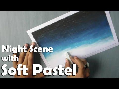 Drawn night sky pencil drawing Sky Pastel Soft How night