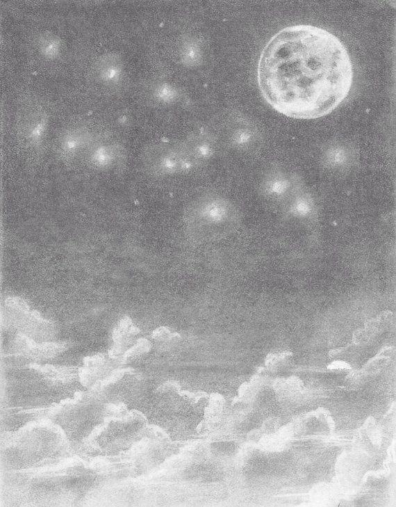 Drawn night sky pencil drawing Order! Art Strings 13 PIN10