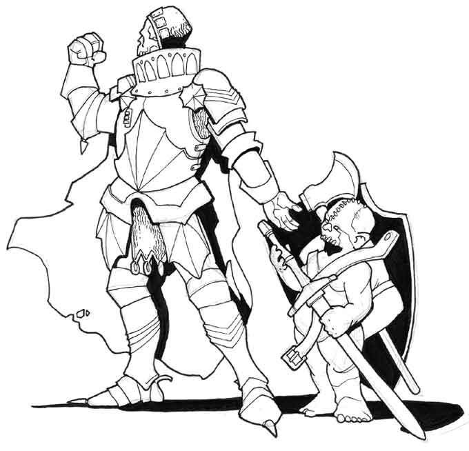 Drawn night squire And death death on by