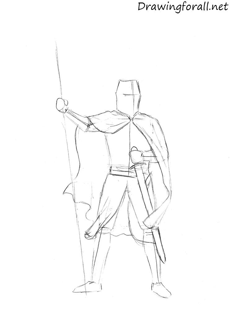 Drawn samurai knight To DrawingForAll Draw knight How