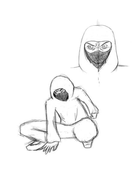 Drawn ninja DeviantArt ninja Novvaq Hooded drawn