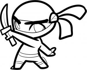 Drawn ninja Color kids ninja you kids