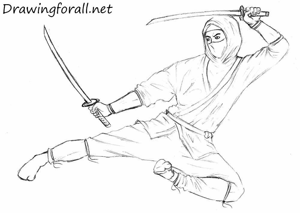 Drawn ninja Net to Ninja How Draw