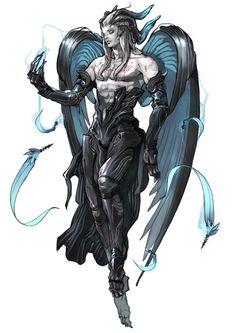 Drawn ninja demon Sigma Sakki 2 horns EbonHorns