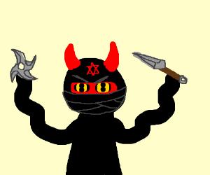 Drawn ninja demon Ninja Dennis demon (drawing by