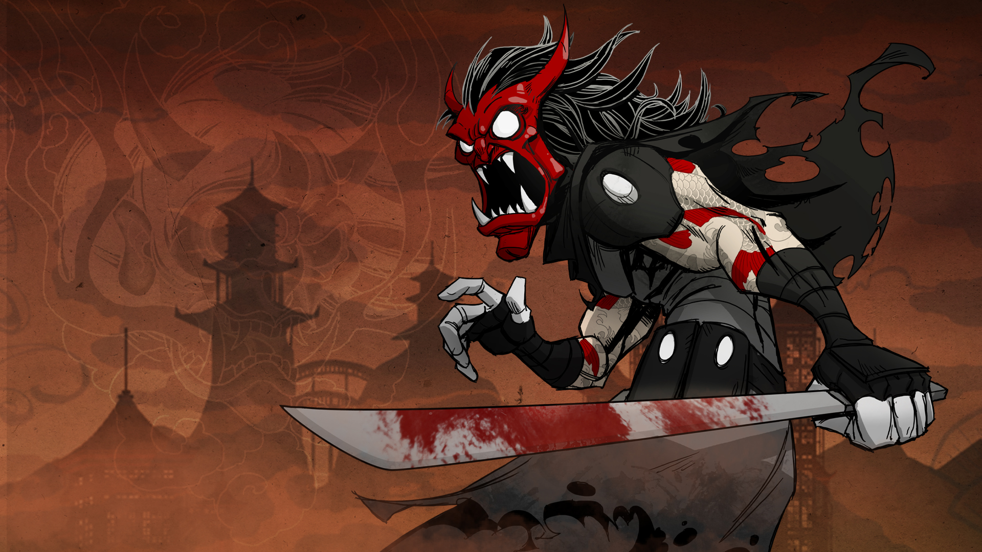 Drawn ninja demon Card :: Exchange of Ninja