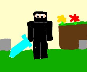 Drawn ninja minecraft Ninja Anedya) (drawing minecraft minecraft
