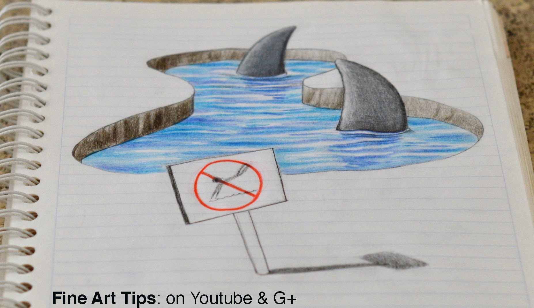 Drawn notebook art My Notebook! Anamorphic YouTube Drawing