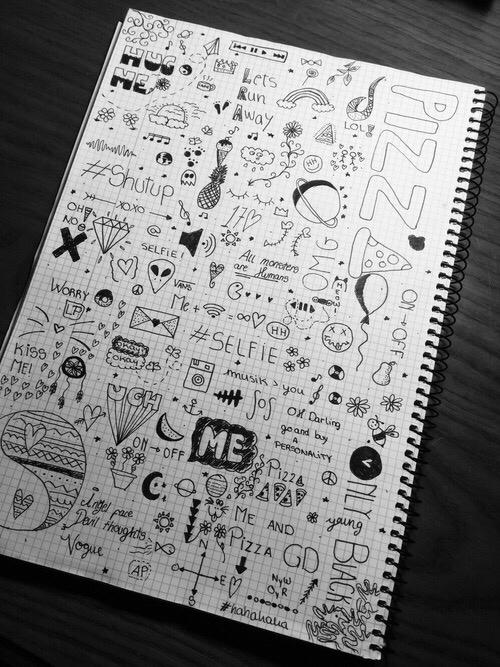 Drawn notebook Life black quotes @lorenxj describes