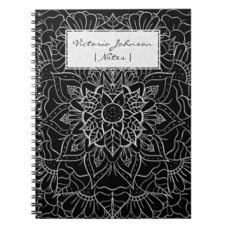 Drawn notebook Floral notebook Journals Hand drawing