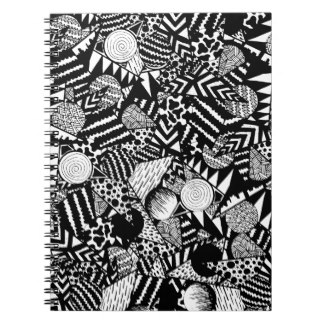 Drawn notebook Black Zazzle Shapes & And