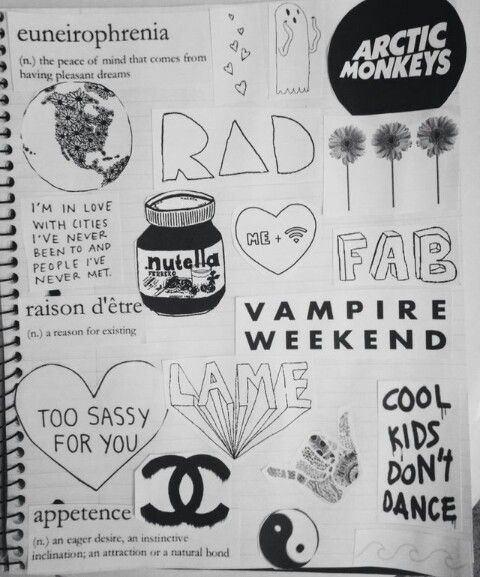Drawn notebook black and white Tumblr Pinterest 27 about cadernos