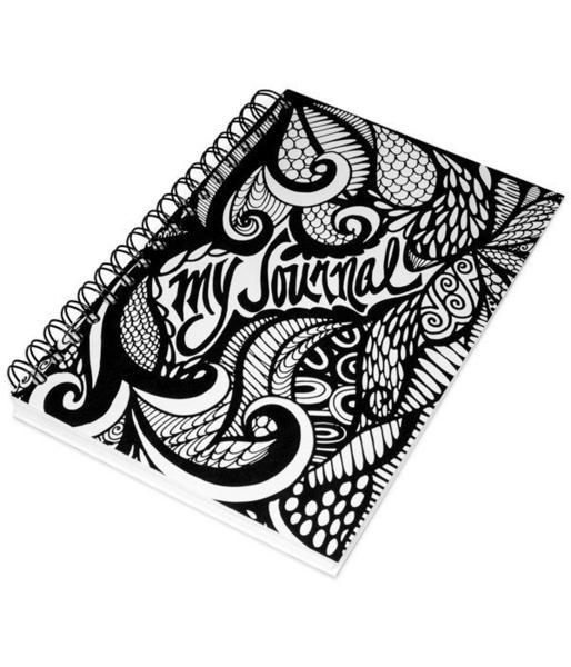 Drawn notebook Hand Spiral And and My