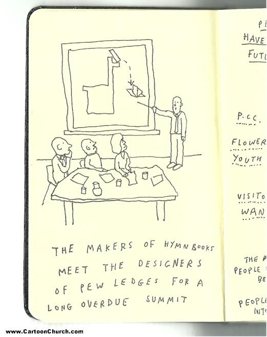 Drawn notebook cartoon / ledges Hymn Hymn ledges
