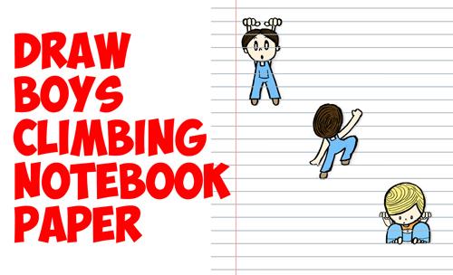 Drawn notebook cartoon Tricks Boys by Notebook 3D