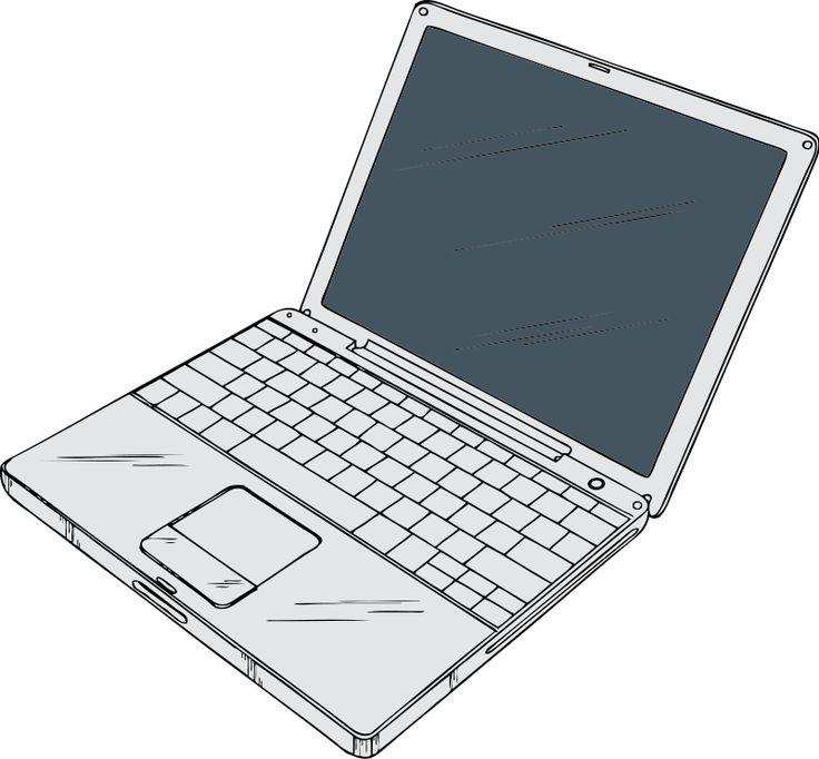 Drawn notebook clip art Calculators PC Laptop on illustrations