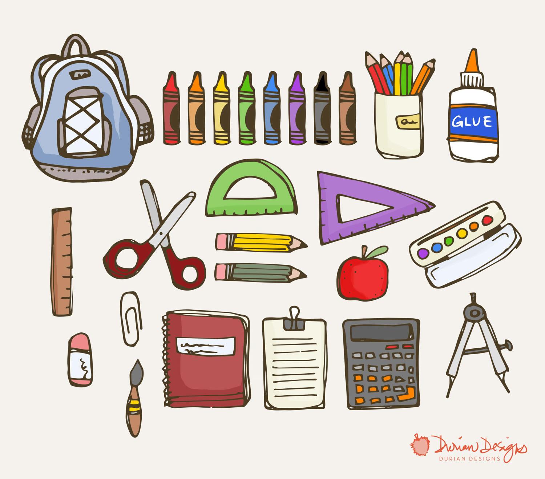 Drawn notebook clip art Commercial Supplies pens  School