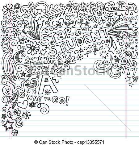 Drawn notebook clip art Great Illustration Notebook Vectors Student