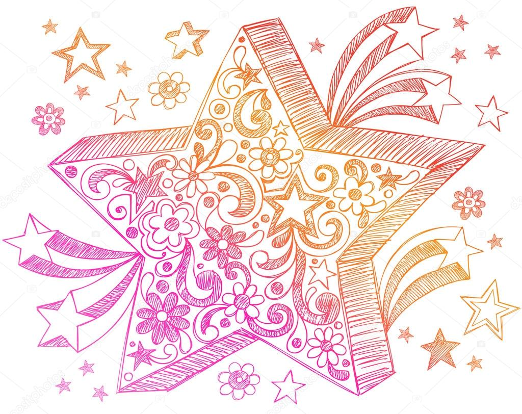 Drawn notebook doodle Sketchy Sketchy #16205355 Star —