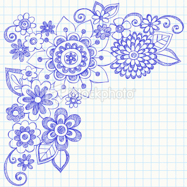 Drawn notebook doodle Hand Sketchy Vector Notebook Doodle