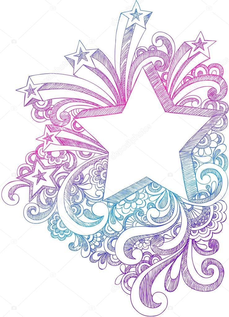 Drawn notebook doodle Sketchy Sketchy #16205621 Starburst —