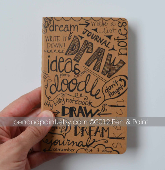 Drawn notebook hand drawn Book Diary $13 Hand Notebook