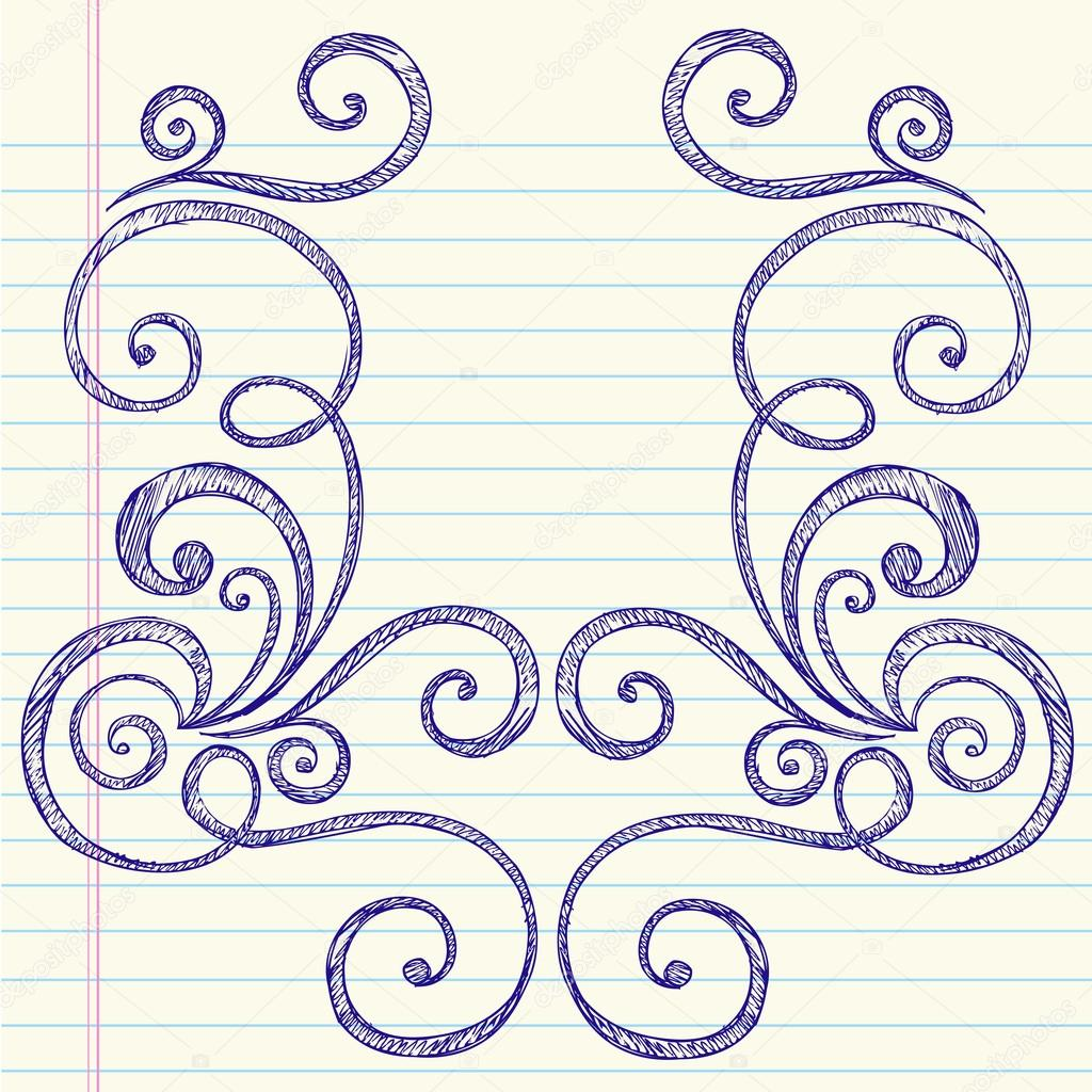 Drawn notebook hand drawn Vector Swirl #5469973 © Drawn