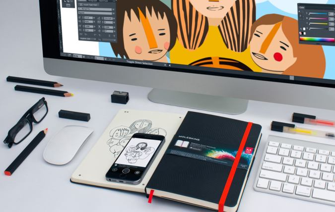 Drawn notebook high tech Find Moleskine always more this