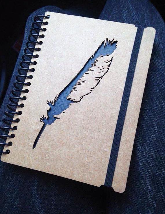 Drawn notebook high tech Sketchbook personalized cute spiral